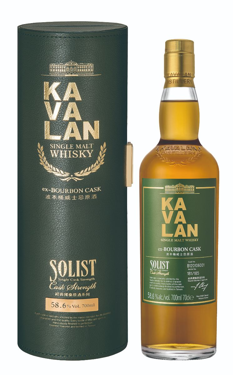 Mike Cox - NO.3-Kavalan Solist ex-Bourbon Single Cask Strength Single Malt Whisky-bottle and box